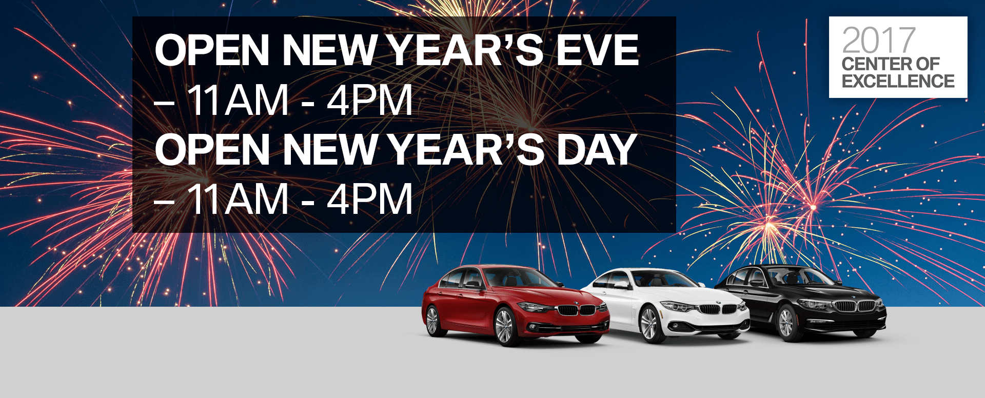 Passport BMW will be open this New Year's Eve and New Year ...
