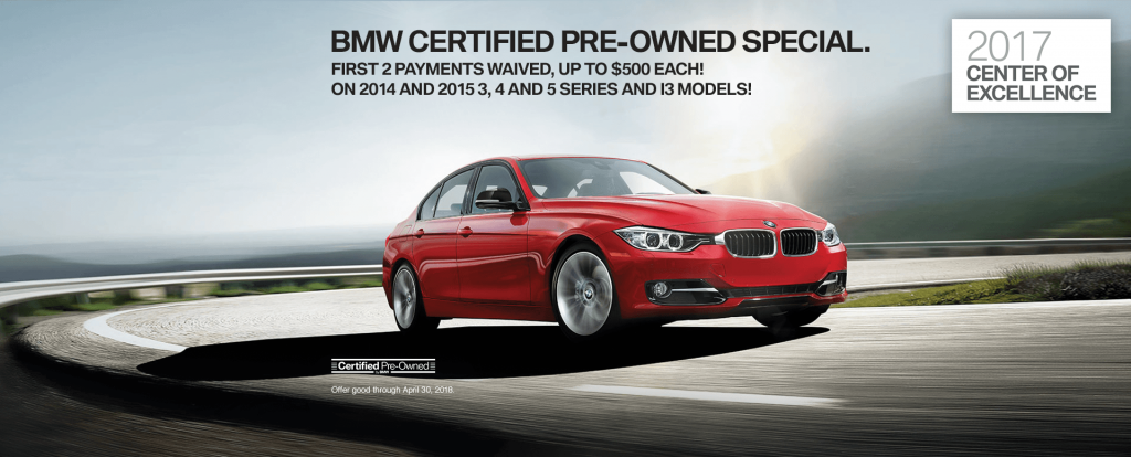 Certified Pre Owned BMW >> First 2 Payments Waived With The Current Bmw Certified Pre