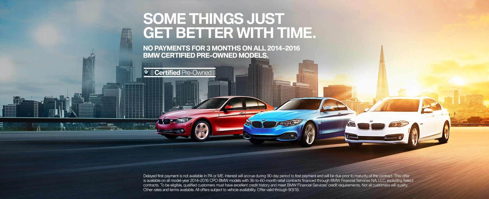 BMW Pre Owned >> No Payment For 3 Months On All 2014 2016 Bmw Certified Pre