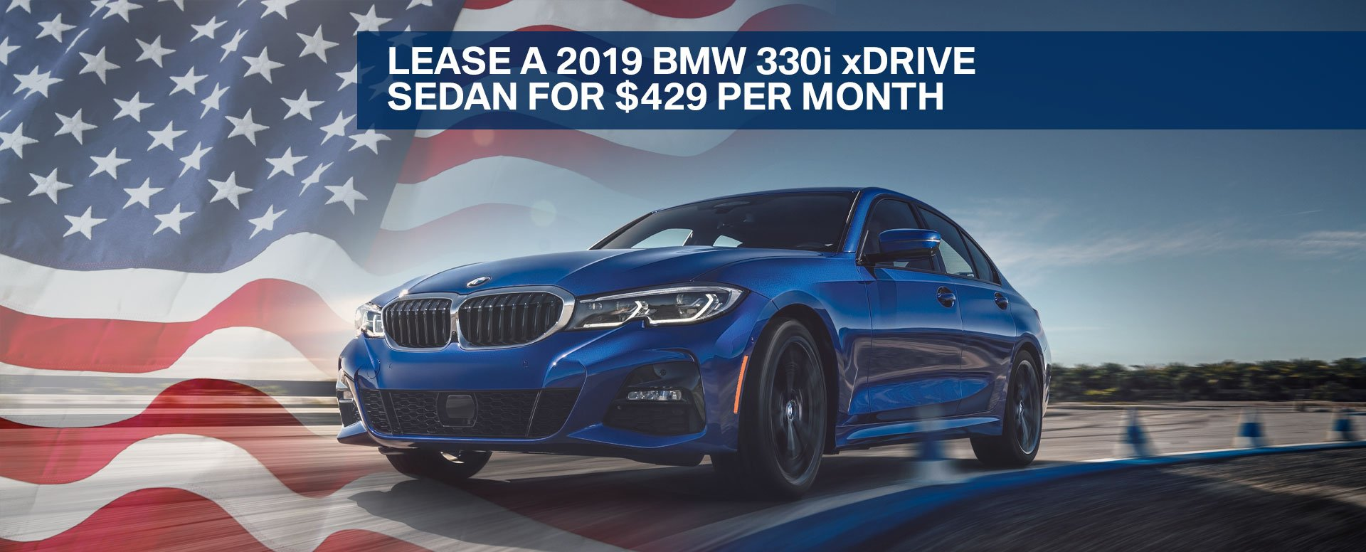Lease a 2019 BMW 330i xDrive sedan for $429 per month at