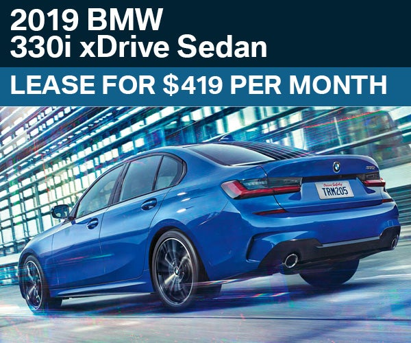 Lease The 2019 BMW 330i XDrive Sedan For Only $419 Per